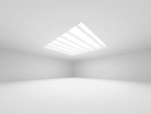 abstrakt arkitekturbakgrund Töm interioren för vit lokal Arkivbild