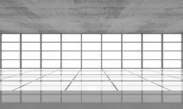 Abstrakt arkitekturbakgrund, tömmer den konkreta inre vektor illustrationer