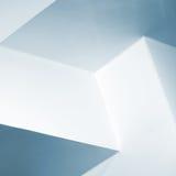 Abstrakt arkitekturbakgrund, vit inre Royaltyfri Fotografi