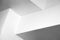 Abstrakt arkitekturbakgrund, vit inre Royaltyfri Foto
