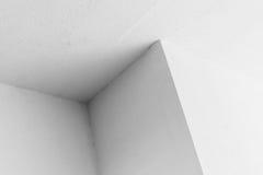 Abstrakt arkitekturbakgrund, vitt hörn Royaltyfria Foton