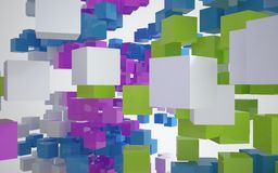 abstrakt arkitekturfärg Royaltyfria Foton