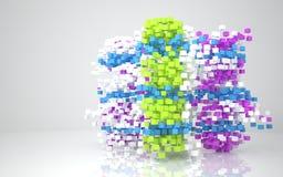 abstrakt arkitekturfärg Fotografering för Bildbyråer