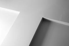 Abstrakt arkitekturfragment, vit vägg med garnering Royaltyfria Bilder