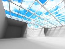 Abstrakt arkitekturkonstruktion och molnig himmel Royaltyfri Fotografi