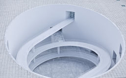 abstrakt arkitekturspiral Royaltyfri Fotografi