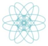 abstrakt atomdiagram Arkivbild
