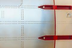 Abstrakt avsnitt av en raket Arkivbild