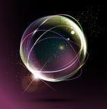 Abstrakt avståndsboll på en mörk bakgrund vektor illustrationer