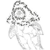 abstrakt b haj stylized w Royaltyfri Foto