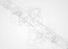Abstrakt bac för affär för teknologi för kub för strukturströmkretsdator Arkivbild