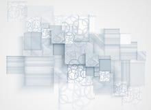 Abstrakt bac för affär för teknologi för kub för strukturströmkretsdator Royaltyfria Bilder