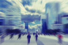 Abstrakt background. Business people in the street in Paris.  Ra Royalty Free Stock Image