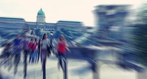 Abstrakt background. Pedestrians walking - rush hour in  Budapes Royalty Free Stock Photo