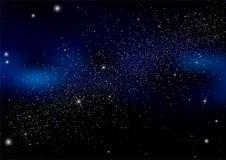 Abstrakt bakgrund är ett utrymme med stjärnor Arkivbilder