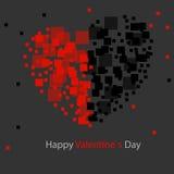 Abstrakt bakgrund, abstrakt bakgrund, fyrkant - hjärta, svart - som är röd Royaltyfria Bilder