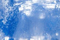 Abstrakt bakgrund av blå is Royaltyfria Bilder