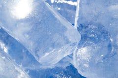 Abstrakt bakgrund av blå is Royaltyfria Foton