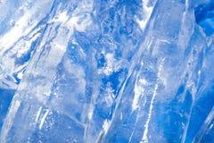 Abstrakt bakgrund av blå is Fotografering för Bildbyråer
