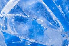 Abstrakt bakgrund av blå is Royaltyfri Bild