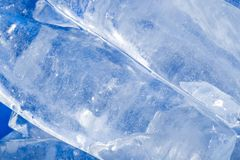 Abstrakt bakgrund av blå is Arkivfoto