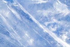 Abstrakt bakgrund av blå is Arkivbild
