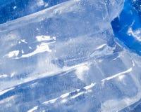 Abstrakt bakgrund av blå is Arkivfoton