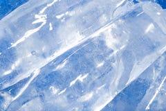 Abstrakt bakgrund av blå is Arkivbilder