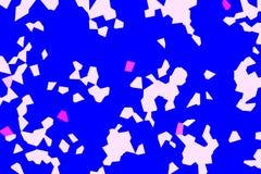 Abstrakt bakgrund av blått- och vitformer Arkivbilder