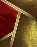 Abstrakt bakgrund av bladguldet och rött utklipp Beståndsdel för design Mall för design kopieringsutrymme för annonsbroschyr elle Fotografering för Bildbyråer