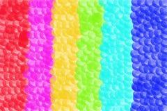 Abstrakt bakgrund av bubblor i olika färger Royaltyfri Fotografi