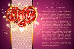 Abstrakt bakgrund av dagen för valentin` s Bakgrundsmall Royaltyfri Bild
