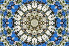 abstrakt bakgrund av den blom- modellen av en kalejdoskop Royaltyfria Foton