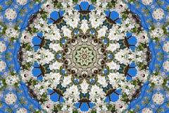 abstrakt bakgrund av den blom- modellen av en kalejdoskop Arkivfoto