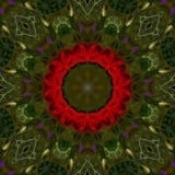 abstrakt bakgrund av den blom- modellen av en kalejdoskop Royaltyfria Bilder