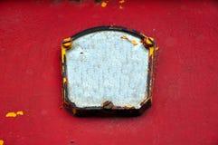 Abstrakt bakgrund av den rostiga järnväggen arkivbild