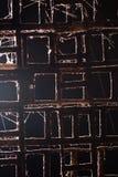 Abstrakt bakgrund av det gamla metallstaketet Fotografering för Bildbyråer