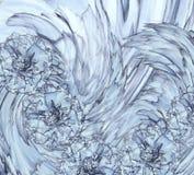 Abstrakt bakgrund av en blå kryddnejlika Blom- bakgrund med blåa blommor av nejlikor Royaltyfria Bilder