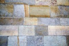Abstrakt bakgrund av en kullerstentrottoarnärbild Arkivbild