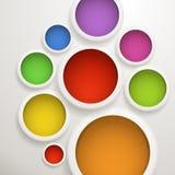 Abstrakt bakgrund av färgcirklar Royaltyfria Foton