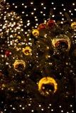Abstrakt bakgrund av färgglade julbokehljus Royaltyfria Bilder