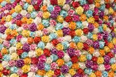 Abstrakt bakgrund av färgrika blommor Arkivbilder