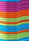 Abstrakt bakgrund av färgrika plast- korgar Royaltyfri Fotografi