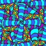 Abstrakt bakgrund av geometriska modeller Royaltyfria Foton