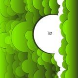 Abstrakt bakgrund av gröna moln Royaltyfri Foto