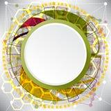 Abstrakt bakgrund av komplexa beståndsdelar på temat av internet Royaltyfria Bilder