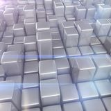 Abstrakt bakgrund av kuber Arkivbild