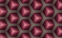 Abstrakt bakgrund av kuber 3D och sexhörningar i honunghårkamform Arkivbilder