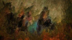 Abstrakt bakgrund av kulör grungetextur av suddiga målarfärgsudd och fläckar på texturerad kanfas stock illustrationer
