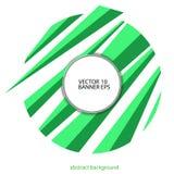 Abstrakt bakgrund av linjer i grön färg för geometrisk stil Royaltyfri Foto